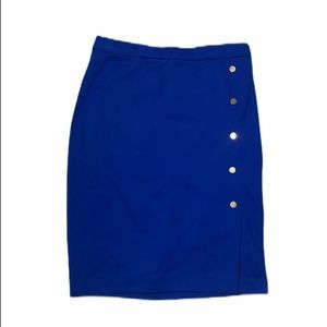 Size 0 The Limited Cobalt blue skirt with gold